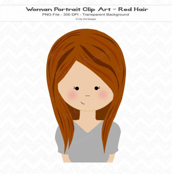 Ginger clipart woman Similar  Commercial Girly Avatar