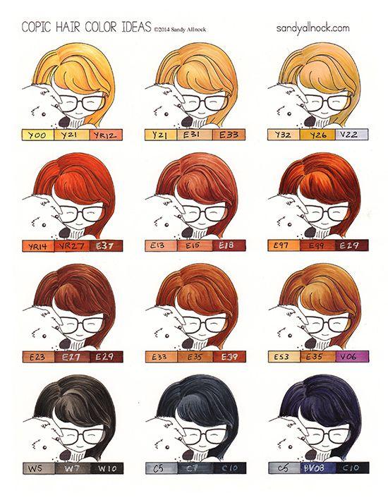Red Hair clipart hair colour Pinterest 25+ Hair Copic Copic