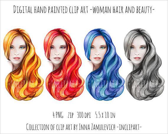 Red Hair clipart hair colour Various woman in clip