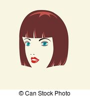 Red Hair clipart hairstyle Hair woman Vector with woman