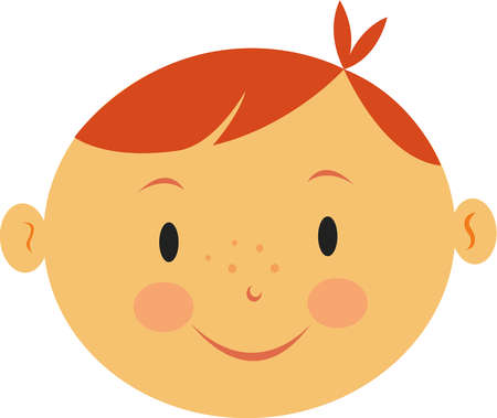 Red Hair clipart kid hair Red with of Stock a