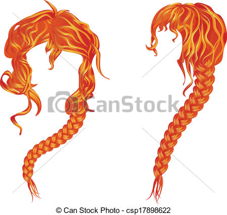 Red Hair clipart long hair Download Hair Hair Red Download