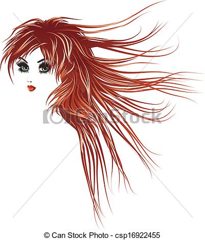Red Hair clipart long hair Hair with  hair with