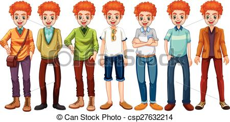 Red Hair clipart man hair Red hipster of less red