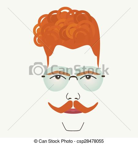 Red Hair clipart man hair Blue Young  red Clipart