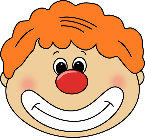 Red Hair clipart mother face Clipart The Cliparts Clown Faces
