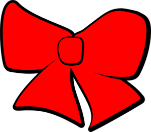 Red Hair clipart red bow #3