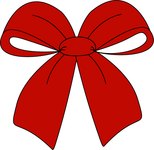 Red Hair clipart red bow #7