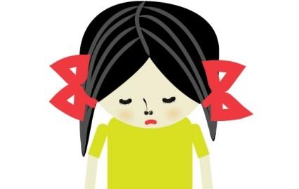 Red Hair clipart sad lady Free Clipart Face Panda Sad