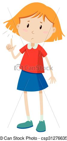 Short Hair clipart man's face Little short girl of Little