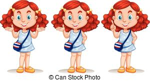 Short Hair clipart ginger hair Skirt being poses red of