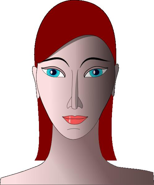 Red Hair clipart small eye Art Hair Clker  vector