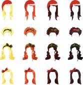 Red Hair clipart straight hair Art Royalty Free Straight hair