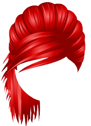Red Hair clipart transparent  Back Hair NYC Yopriceville