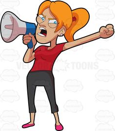 Red Hair clipart upset person Cartoon A jeans On The