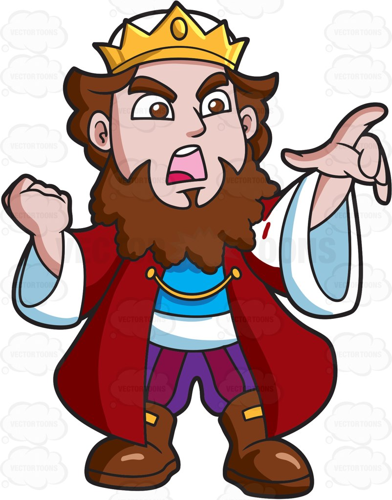 Red Hair clipart upset person Cartoon An Angry King