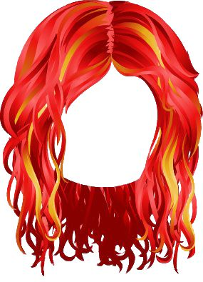 Red Hair clipart wig Best PERUCAS 74 on images