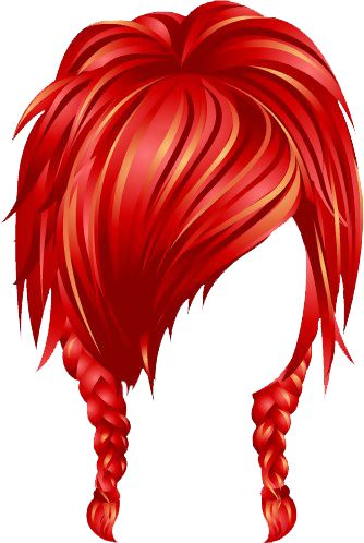 Red Hair clipart wig #5