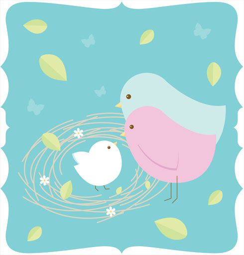 Red Headed Finch clipart baby shower #13