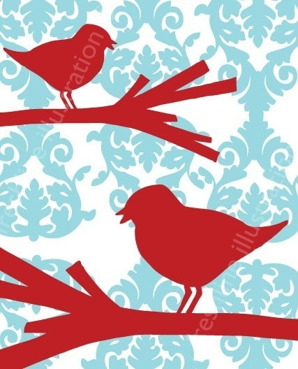 Red Headed Finch clipart etsy 20+ birds branch Beautiful Best