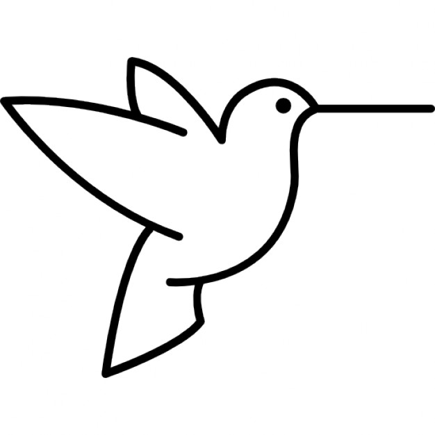 Bird clipart side view From outline files Free view