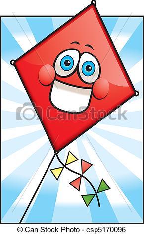Red Kite clipart Clip Vector of  kite