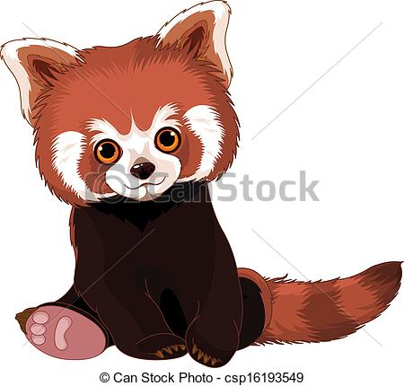 Drawn red panda cartoon EPS Red Panda panda Red