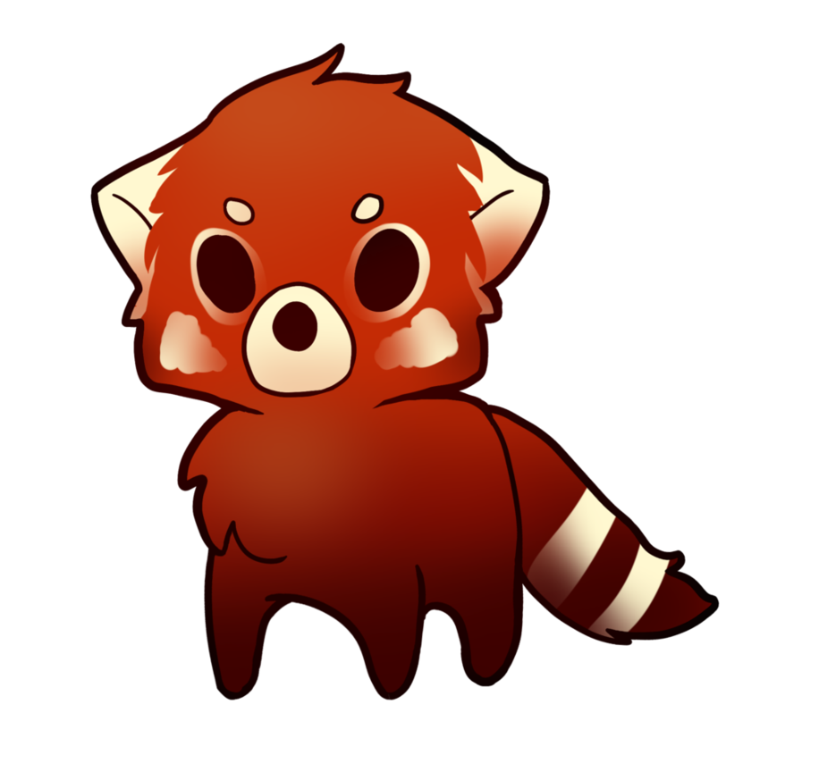 Drawn red panda cartoon Drawing art cute images panda