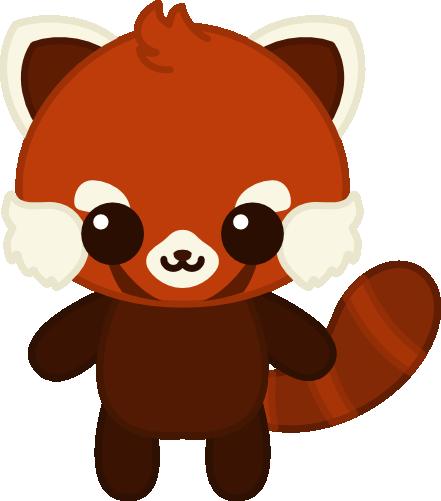 Drawn red panda kawaii Free Panda Red Clipart Images
