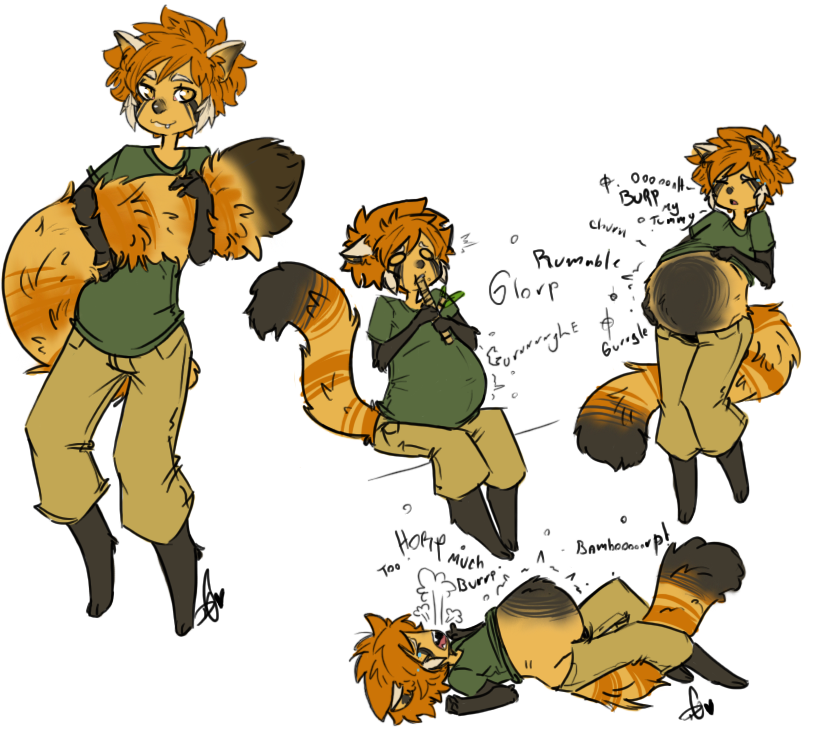 Red Panda clipart chubby #2