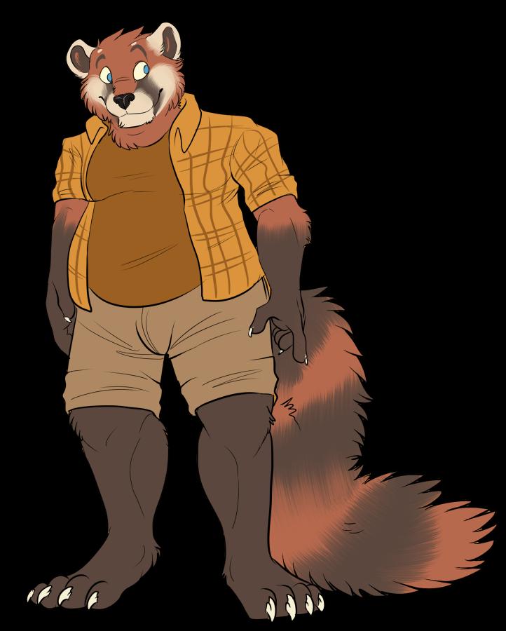 Red Panda clipart chubby #1