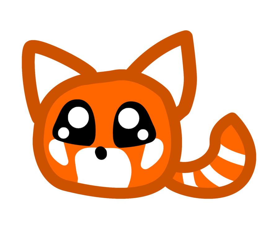 Drawn red panda really Red clip drawing com Red