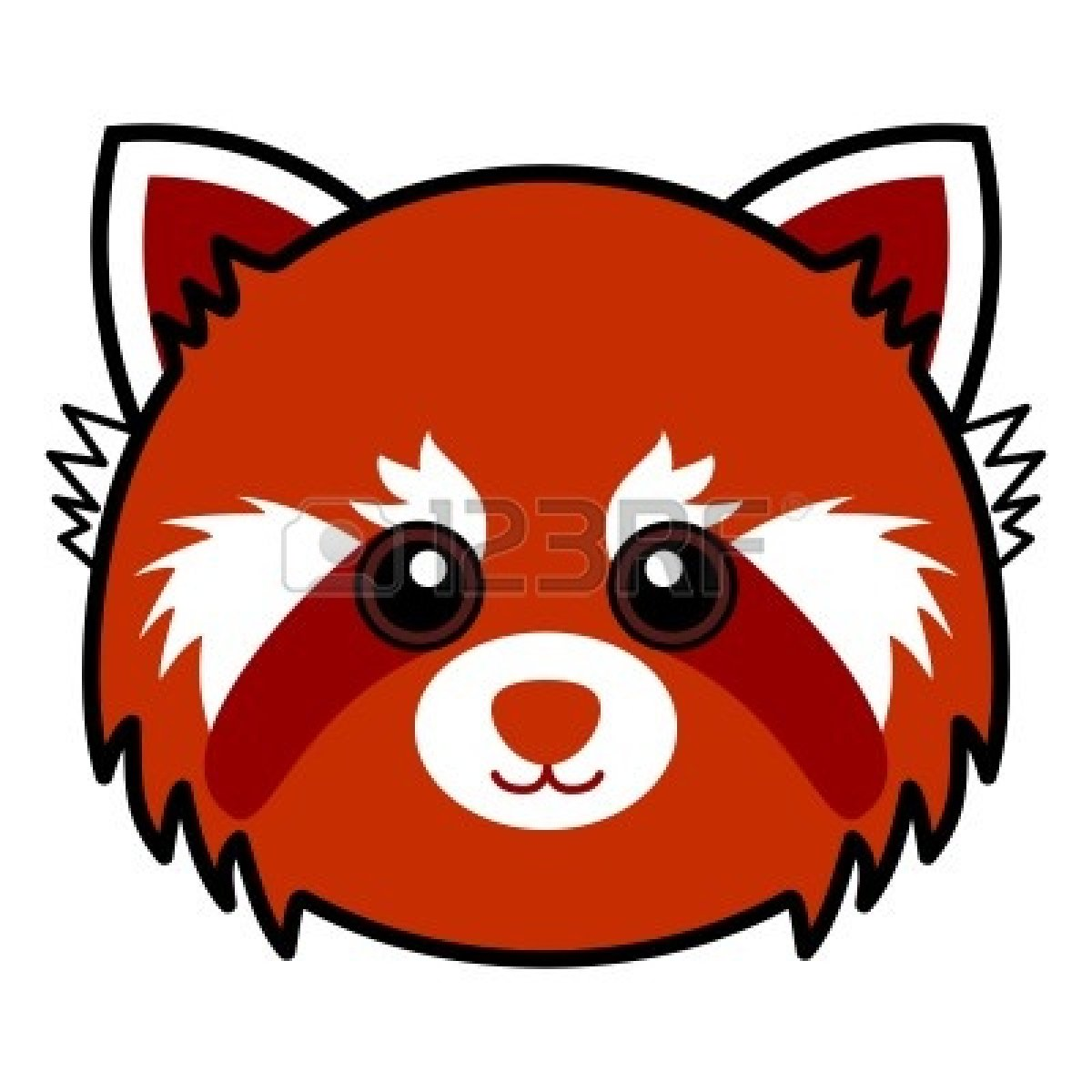 Red Panda clipart face #1