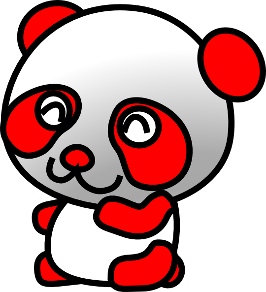 Red Panda clipart face #2