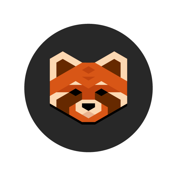 Red Panda clipart face #3