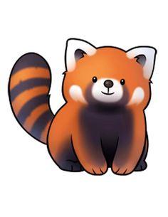 Drawn red panda kawaii Panda red little Bento Animal