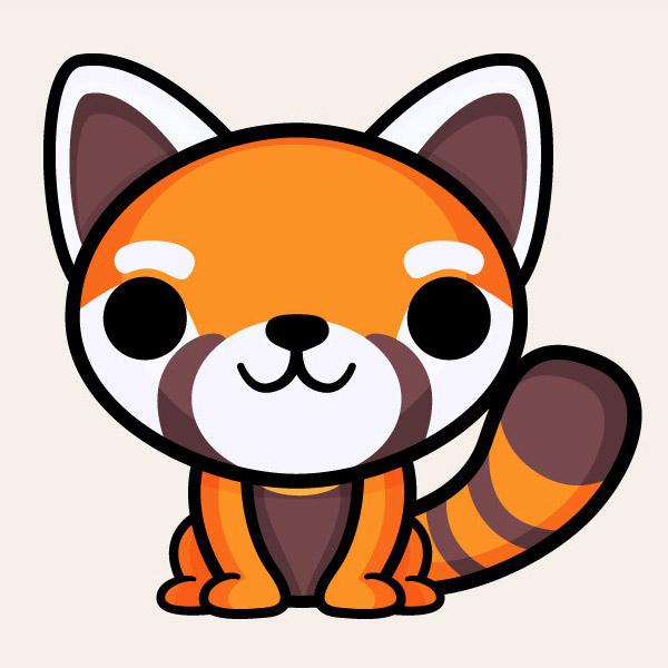 Red Panda clipart kawaii #4