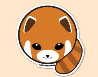 Red Panda clipart kawaii #6