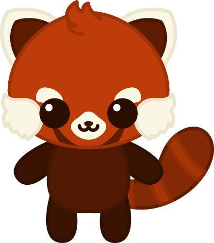 Red Panda clipart kawaii #3
