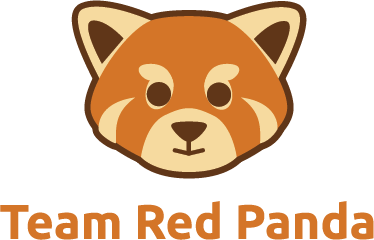 Drawn red panda animated Team red indie png only