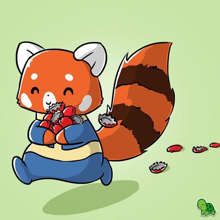 Drawn red panda tailed  Red Pinterest 124 pandas