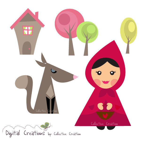 Hood clipart little red riding hood wolf The Riding Red for Hood
