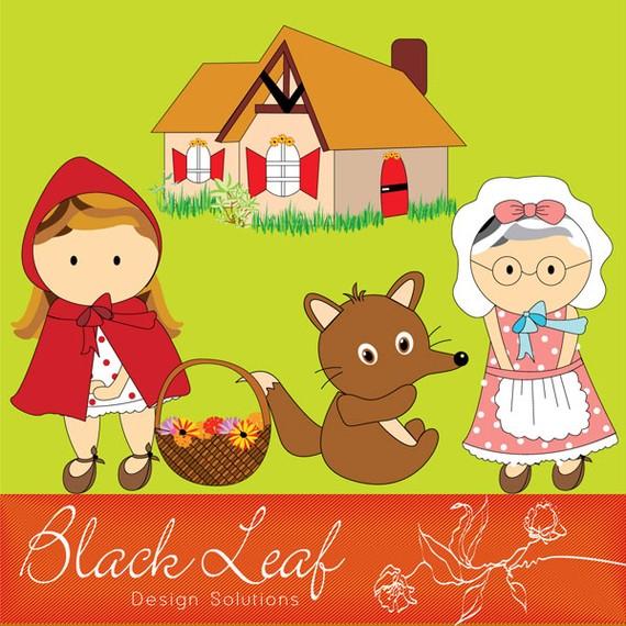 Red Riding Hood clipart grandma #4