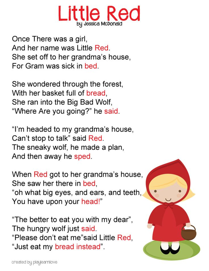 Red Riding Hood clipart hungry wolf  Riding Red Preschoolers *Free
