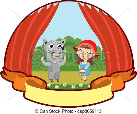 Red Riding Hood clipart kid Little Little Red Riding csp8659113