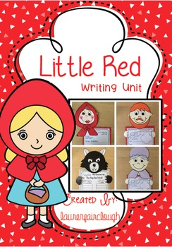 Red Riding Hood clipart red writing Hood Unit  Red Writing