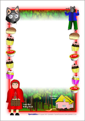Red Riding Hood clipart red writing A4 Little page (SB2629) Hood