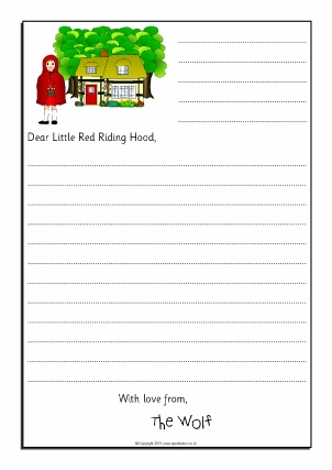 Red Riding Hood clipart red writing Red (Little Story Sack Sorry