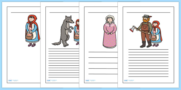 Red Riding Hood clipart red writing Writing Little Frames frame Hood