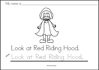 Red Riding Hood clipart red writing Learning (as Hood has to